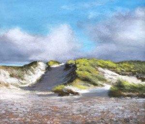 Kleine Düne, Pastell, 25 x 28 cm, Susanne Mull, 2019 (c) Susanne Mull