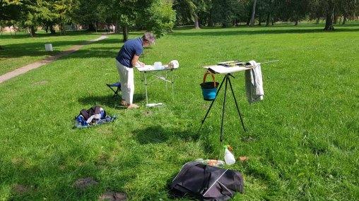 Malen im Park des Doberaner Münsters (c) Frank Koebsch (1)