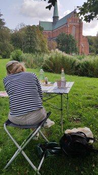 Malen im Park des Doberaner Münsters (c) Frank Koebsch (2)