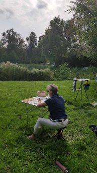 Malen im Park des Doberaner Münsters (c) Frank Koebsch (3)