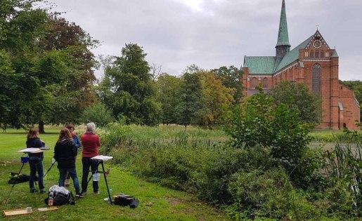 Malen im Park des Doberaner Münsters (c) Frank Koebsch (9)
