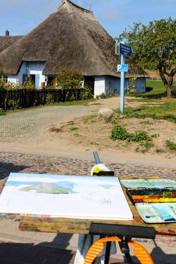 Malreise Rügen - Wir malen das Pfarrwitwenhaus in Groß Zicker (c) Frank Koebsch (1)