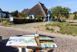 Malreise Rügen - Wir malen das Pfarrwitwenhaus in Groß Zicker (c) Frank Koebsch (4)