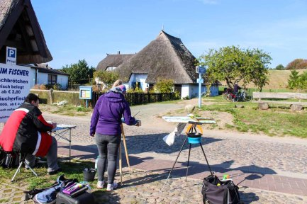 Malreise Rügen - Wir malen das Pfarrwitwenhaus in Groß Zicker (c) Frank Koebsch (5)