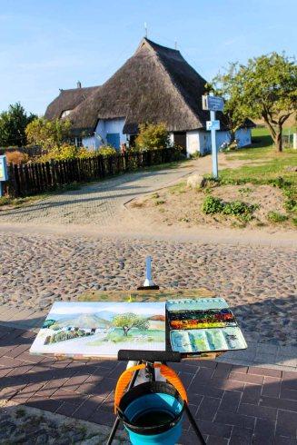 Malreise Rügen - Wir malen das Pfarrwitwenhaus in Groß Zicker (c) Frank Koebsch (8)