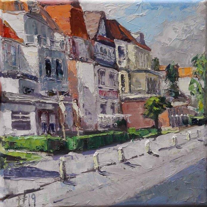 Ostseeallee II. 2019, Öl auf Leinwand, (c) Thomas Freund