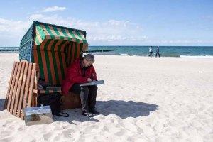 Plein Air Festival – Malen an der Ostsee – Pastellmaler am Strand von Kühlungsborn © Frank Koebsch (8)