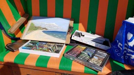 Plein Air Festival – Malen an der Ostsee – Pastellmalerei am Strand von Kühlungsborn © Frank Koebsch (1)
