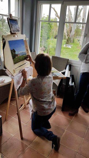 Plein Air Festival Kühlungsborn - Pastellmalerin Susanne Mull in der Alten Büdnerei © Frank Koebsch (2)