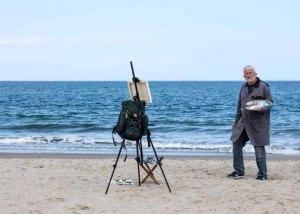 Thomas Freund malt am Strand von Kühlungsborn (c) FRank Kebsch (3)