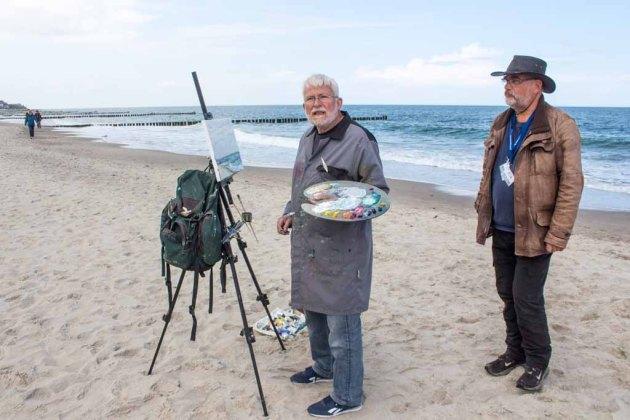 Thomas Freund und Wolfgang Bergt - zwei Ölmaler an der Ostsee (c) FRank Koebsch