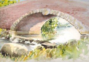 Wörlitzer Brücke (c) Aquarell von Max Struwe