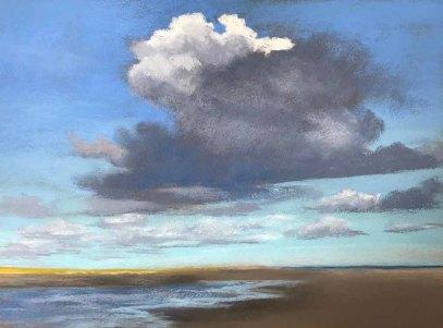 Wolkenskizze, Pastell, 2019 (c) Susanne Mull