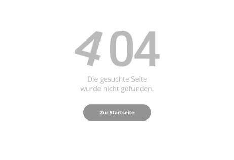 404 - Die gesuchte Seite wurde nicht gefunden.