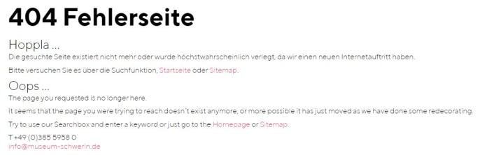 404 Fehlerseite Hoppla...