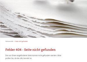 404 - Seite nicht gefunden