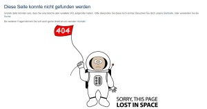 404 - Sorry, this page lost in space