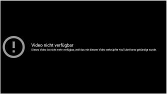 404 - Video nicht verfügbar