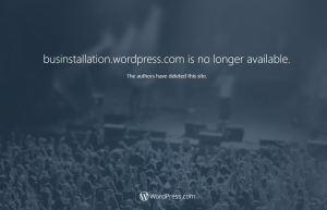 businstalltion.wordpress.com is no longer available