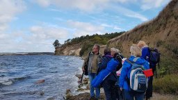 Der Westwind hat am Cliff von Alt Reeddewitz den Strand überspült (c) Frank Koebsch