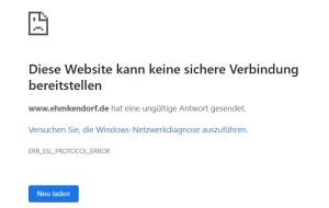 ERR_SSL_PROTOCOL_ERROR