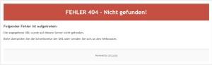 Fehler 404 - Nicht gefunden !