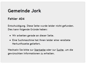 Gemeinde Jorg - Fehler 404