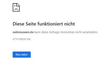 HTTP ERROR 500 - Diese Seite existiert nicht mehr