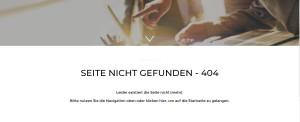 Seite nicht gefunden - 404.