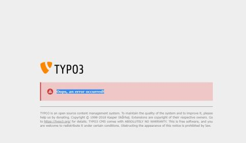 Typ 03 - Oops, an error occurred!