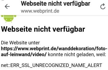 Webseite nicht verfügbar