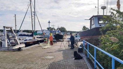 Malreise Rügen - Malen im Hafen von Thiessow (c) Frank Koebsch (1)