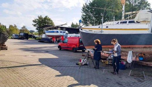Malreise Rügen - Malen im Hafen von Thiessow (c) Frank Koebsch (6)