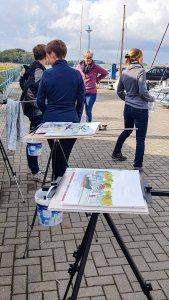 Malreise Rügen - Malen im Hafen von Thiessow (c) Frank Koebsch (7)