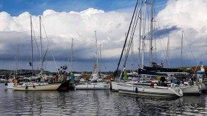 Segelboote – Teilnehmer der Regatta – Blaues Band – im Hafen Thiessow © Frank Koebsch (1)