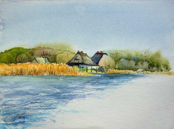 Frühling am Haff (c) Aquarell von FRank Koebsch