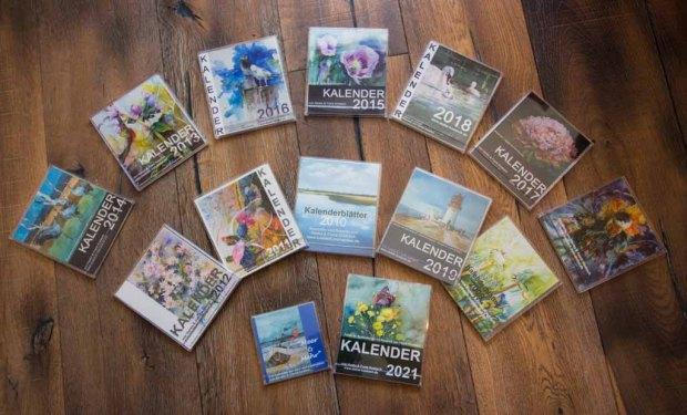 Kalender 2007 - 2021 mit Aquarellen von Hanka und Frank Koebsch