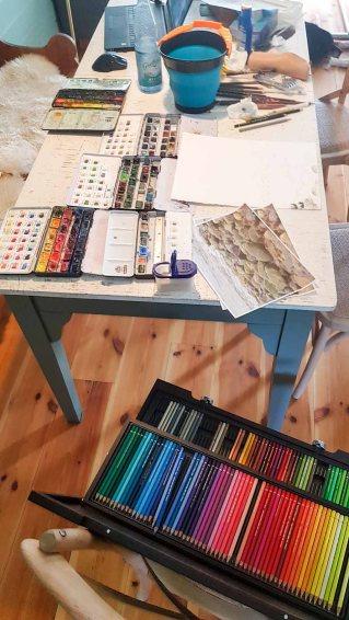 Malen während der Auszeit in Rieth (c) Frank Koebsch (3)