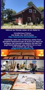 Malreise zu den Kranichen und den Hirschen an der Ostsee vom 19. bis zum 23. September 2021 - Flyer Rückseite