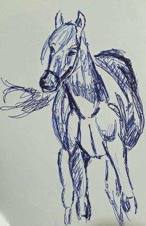 Skizze für ein Pferdeaquarell (c) Frank Koebsch (2)