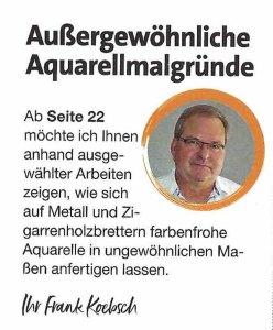 Außergewöhnliche Aquarellmalgründe - Frank Koebsch in der Palette 5 2020