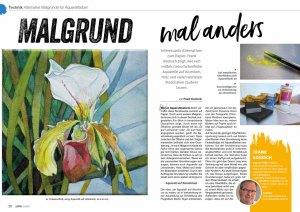 Malgrund - mal anders – Frank Koebsch in der Palette 5 2020 - Seite 22 -23