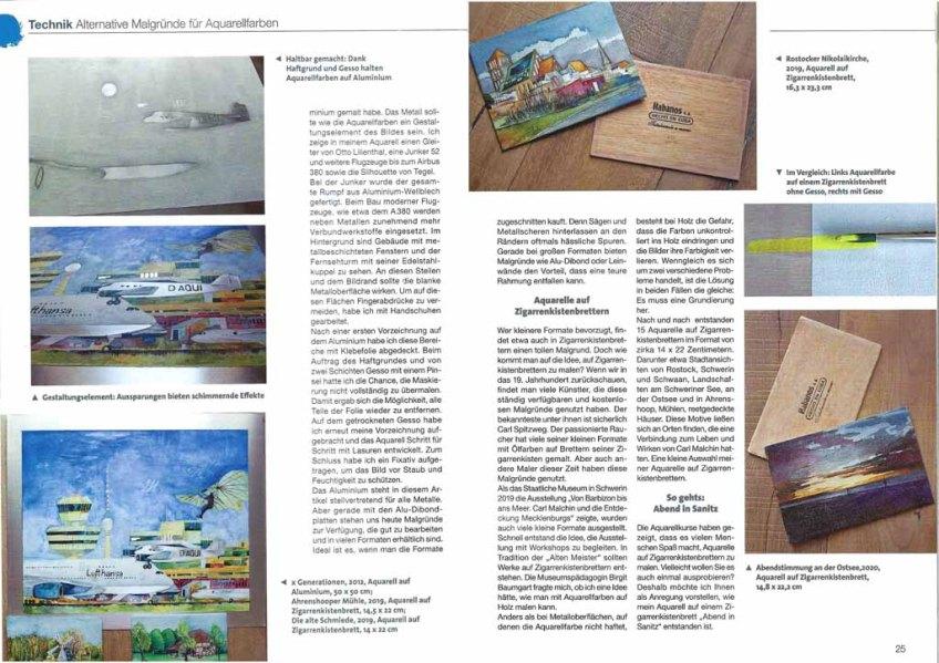 Malgrund - mal anders – Frank Koebsch in der Palette 5 2020 - Seite 24 -25