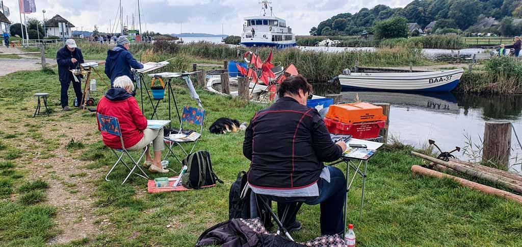 Wir malen im Hafen von Baabe © Frank Koebsch (4)