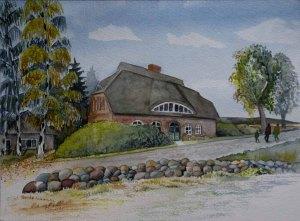 Landhaus Mönchgut (c) Aquarell von Frank Koebsch