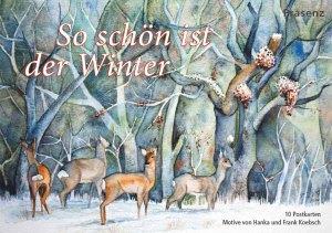 Postkarten-Box - So schön ist der Winter -mit Motiven von unseren Winter Aquarellen