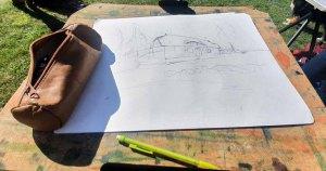 Skizze für das Landhaus Mönchgut ©