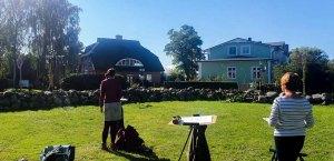 Wir malen in Middelhagen das Landhaus Mönchgut © Frank Koebsch (1)
