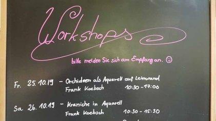 Workshop - Orchideen als Aquarell auf Leinwand mit Frank Koebsch bei boesner – Berlin Marienfelde (1)