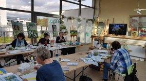 Workshop - Orchideen als Aquarell auf Leinwand mit Frank Koebsch bei boesner – Berlin Marienfelde (2)
